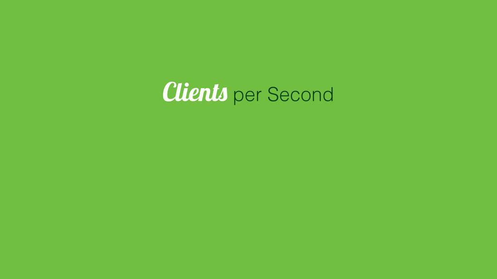 Clients per Second