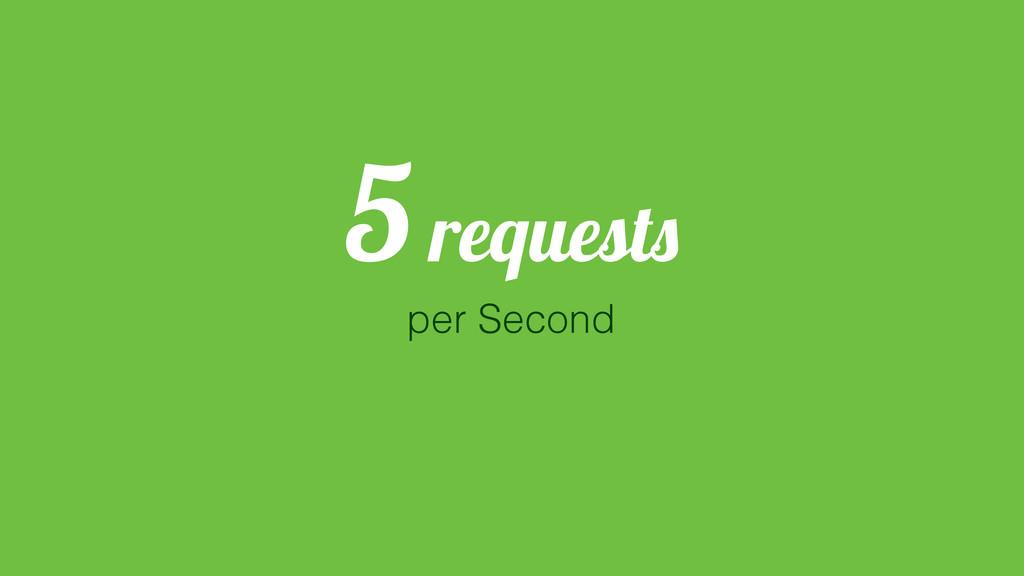 5 requests per Second