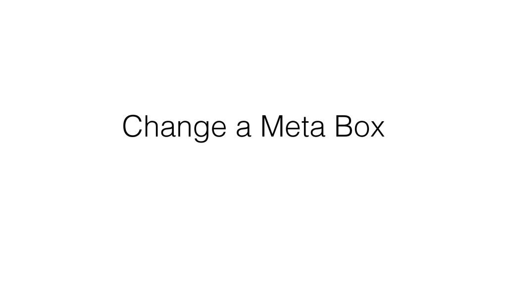 Change a Meta Box