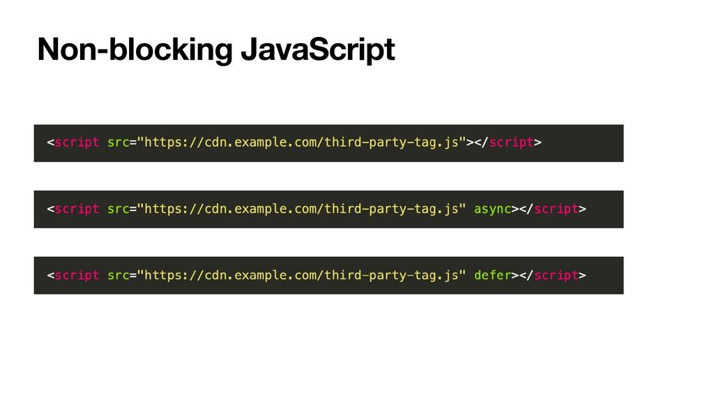Non-blocking JavaScript