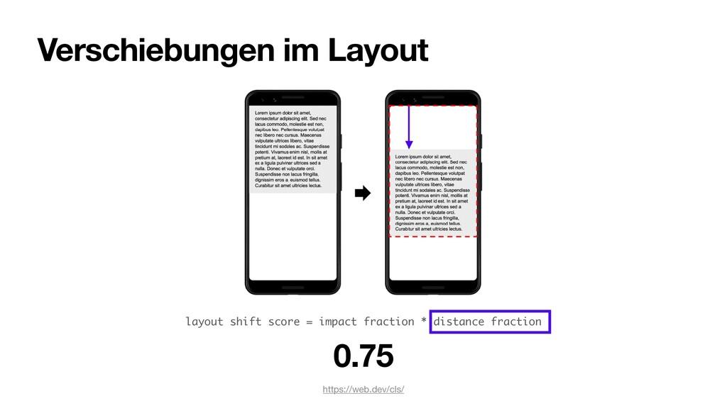 Verschiebungen im Layout https://web.dev/cls/ 0...