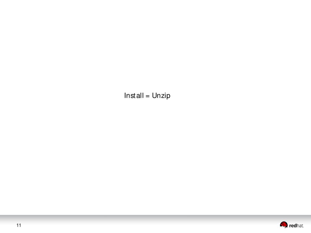 11 Install = Unzip