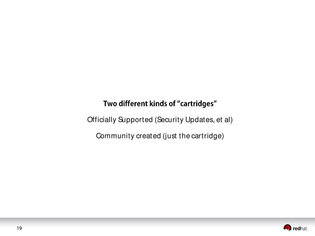 19 Officially Supported (Security Updates, et a...