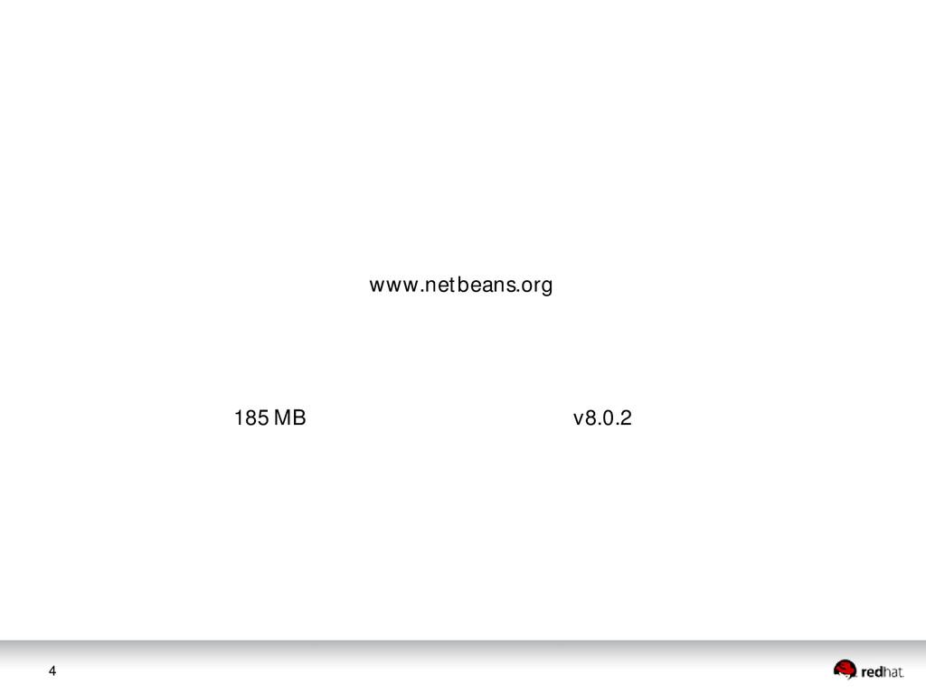 4 www.netbeans.org 185 MB v8.0.2