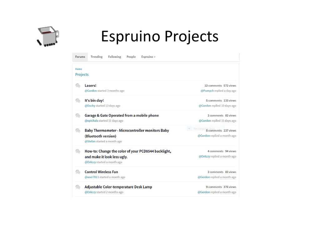 Espruino Projects