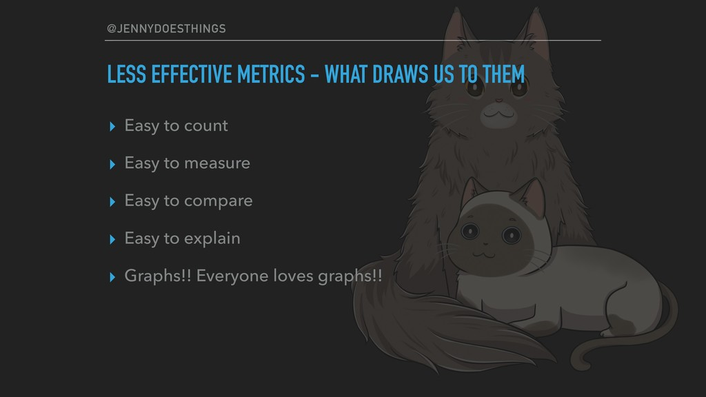 @JENNYDOESTHINGS LESS EFFECTIVE METRICS - WHAT ...