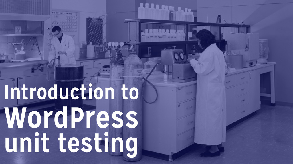 unit testing Introduction to WordPress