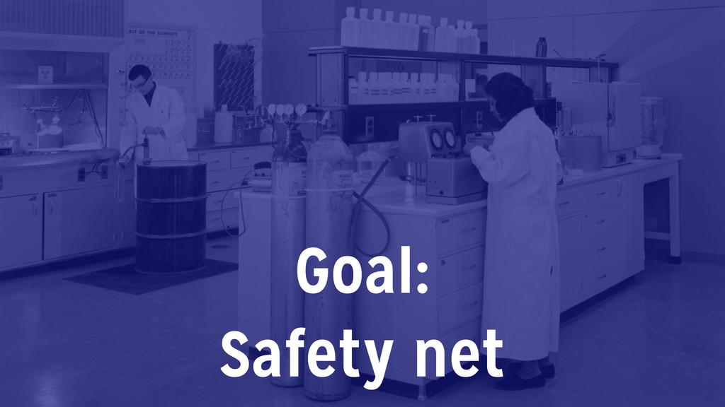 Goal: Safety net