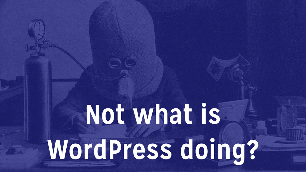 Not what is WordPress doing?