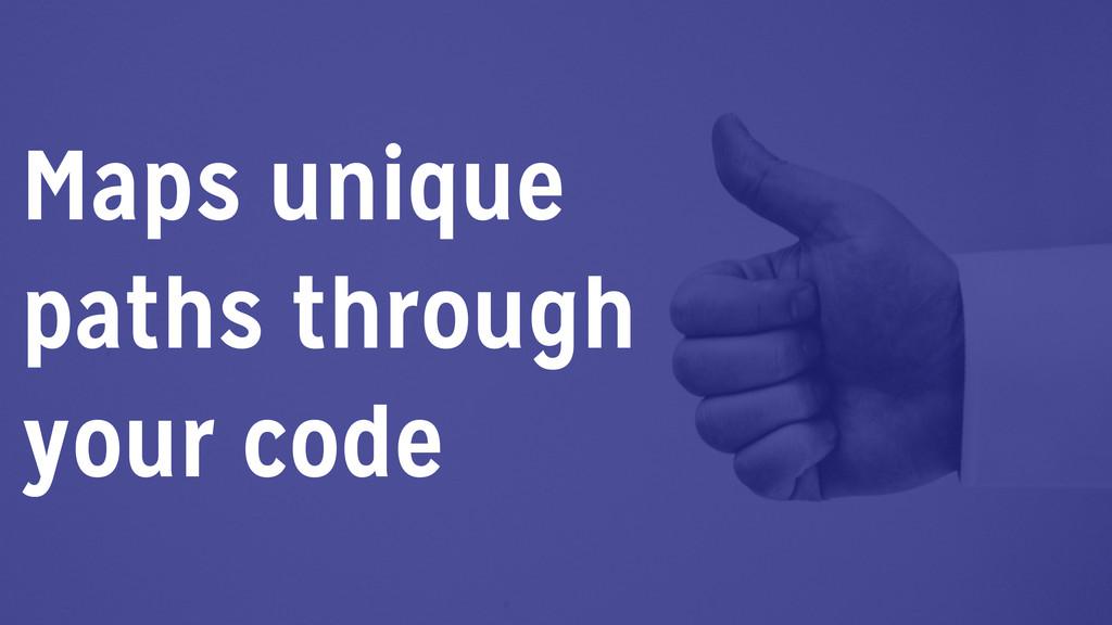Maps unique paths through your code