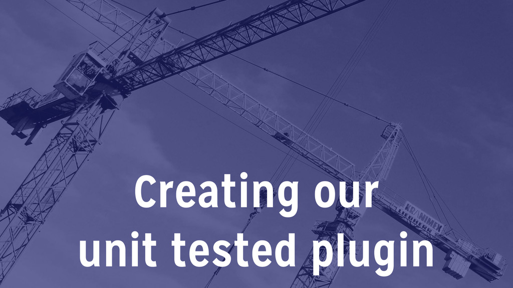 Creating our 