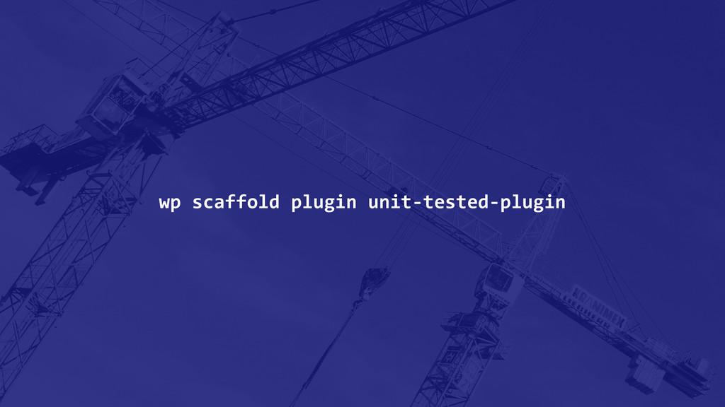 wp scaffold plugin unit-‐tested-‐plu...