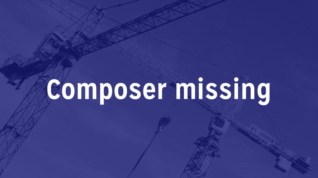 Composer missing
