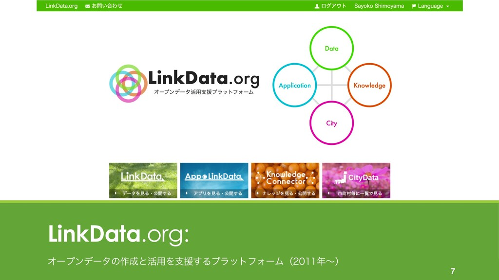 LinkData.org: Φʔϓϯσʔλͷ࡞ͱ׆༻Λࢧԉ͢ΔϓϥοτϑΥʔϜʢʙ...