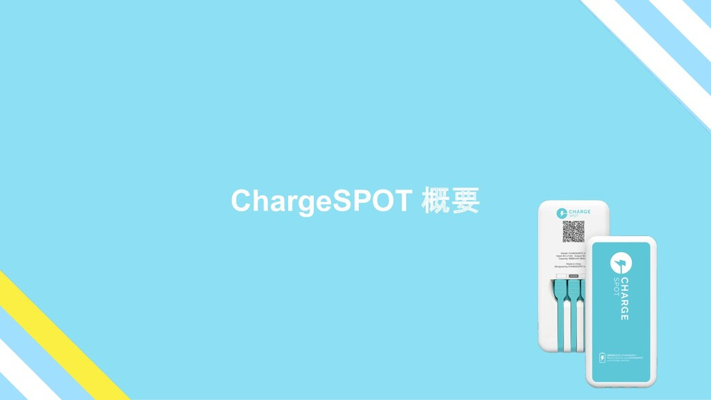 ChargeSPOT 概要