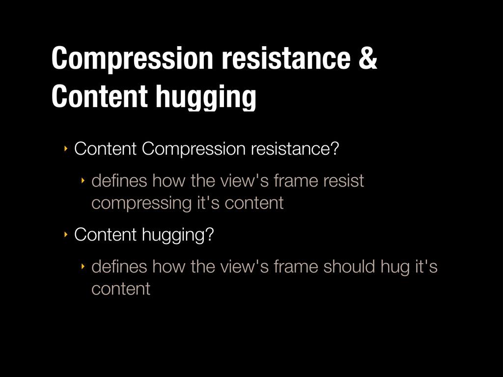 Compression resistance & Content hugging ‣ Cont...