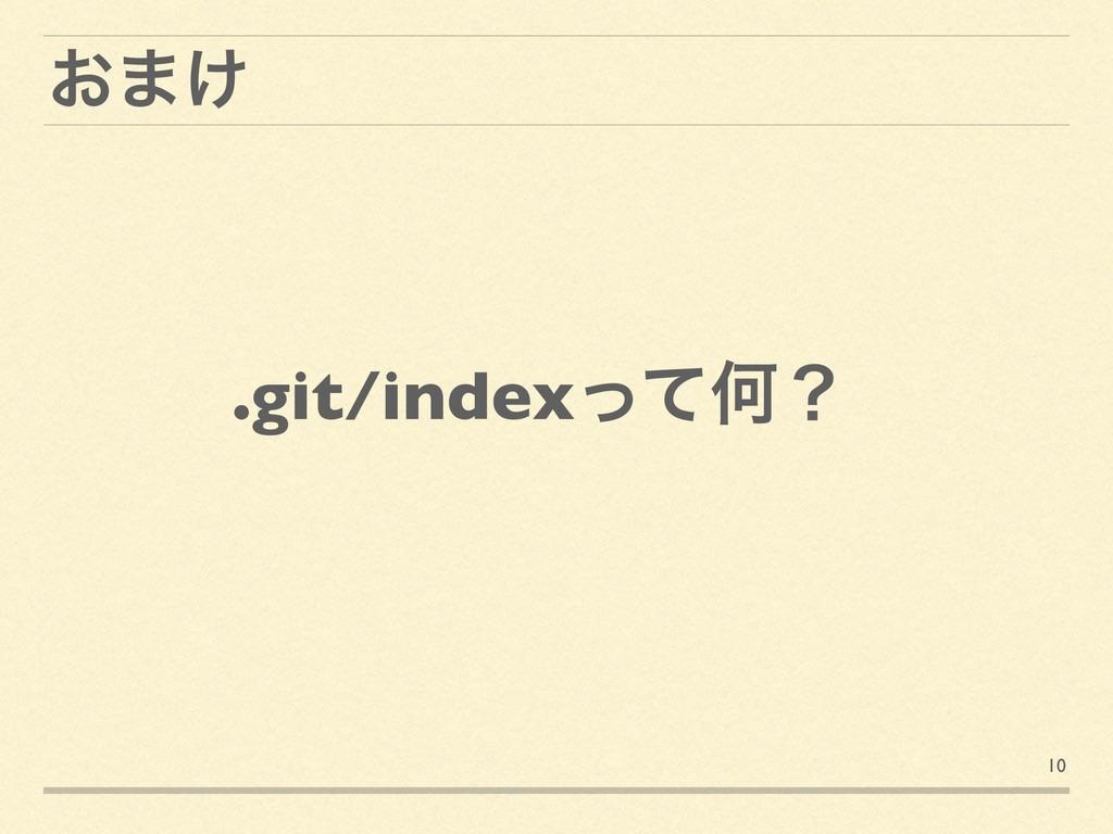 10 ͓·͚ .git/indexͬͯԿʁ