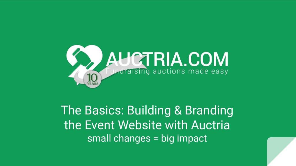 The Basics: Building & Branding the Event Websi...