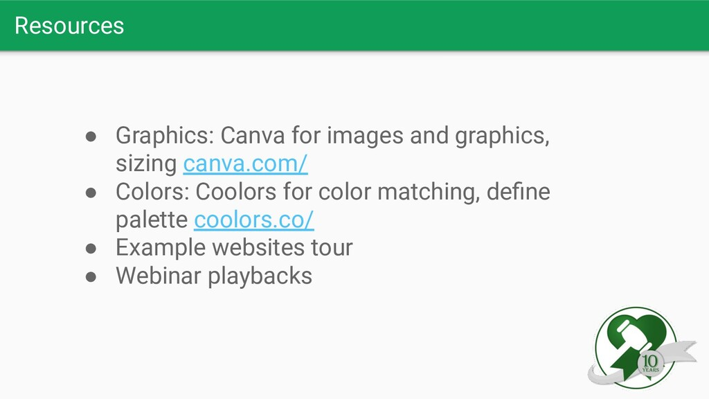 Resources ● Graphics: Canva for images and grap...