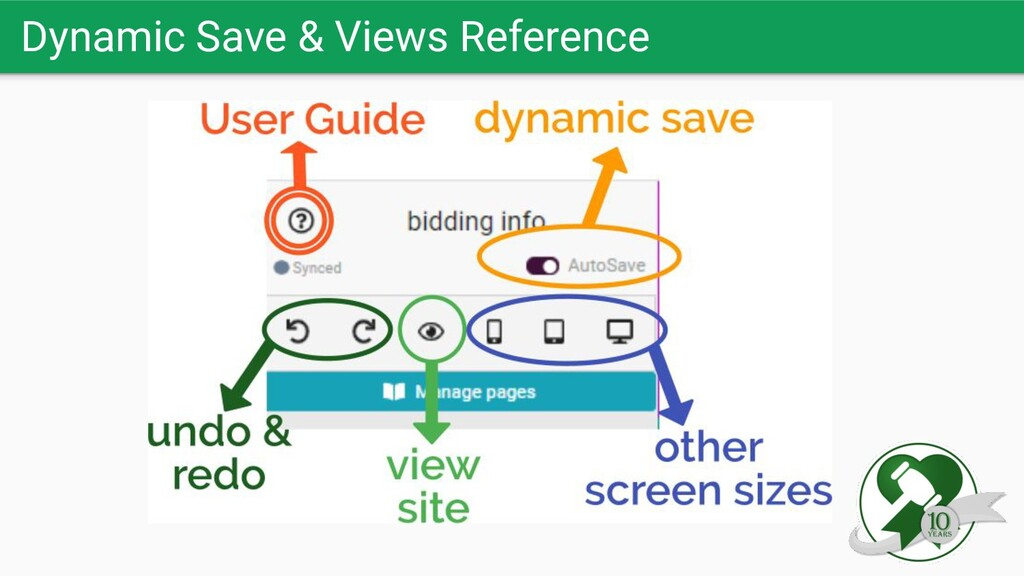 Dynamic Save & Views Reference