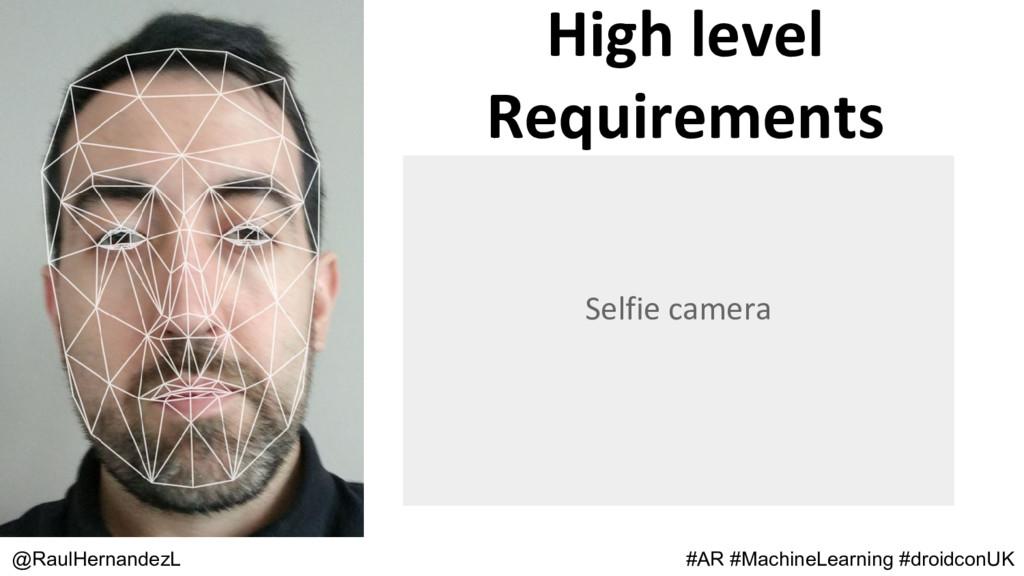 High level Requirements @RaulHernandezL Selfie ...