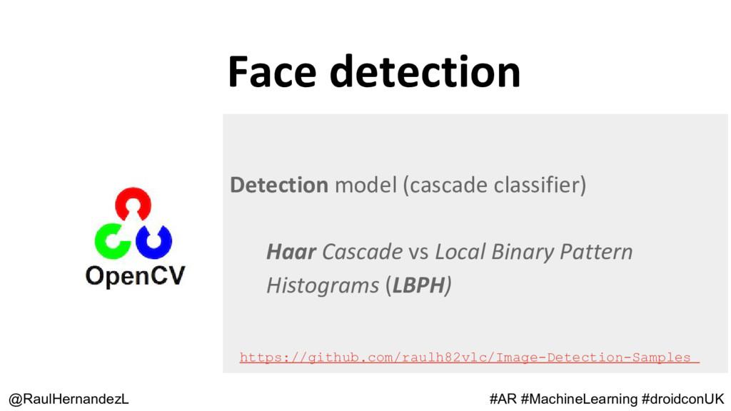 Face detection @RaulHernandezL Detection model ...