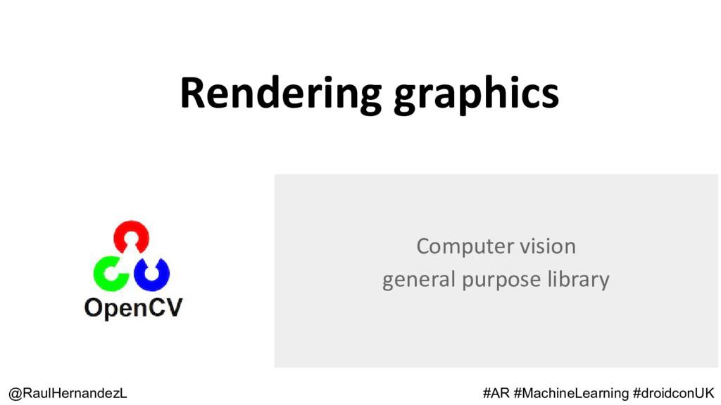 Rendering graphics @RaulHernandezL Computer vis...