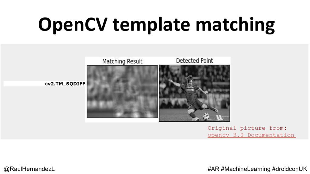 OpenCV template matching @RaulHernandezL #AR #M...