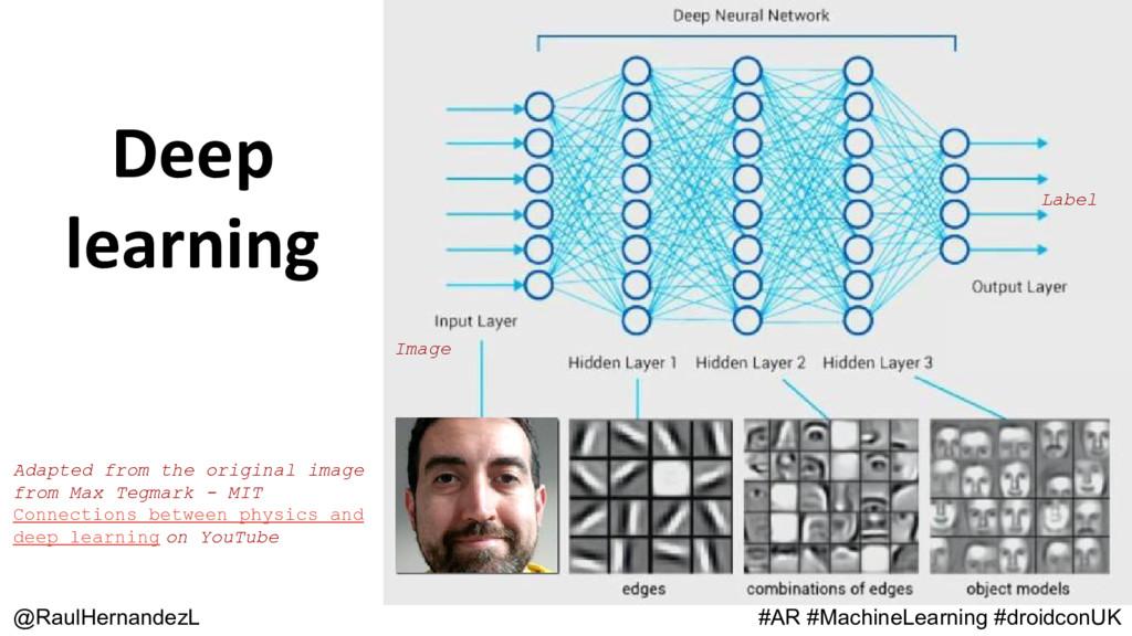 Deep learning @RaulHernandezL #AR #MachineLearn...