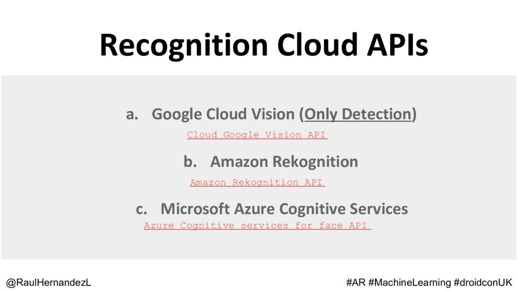 Recognition Cloud APIs @RaulHernandezL #AR #Mac...