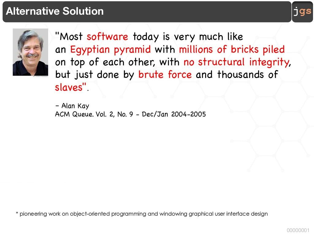 jgs 00000001 Alternative Solution * pioneering ...