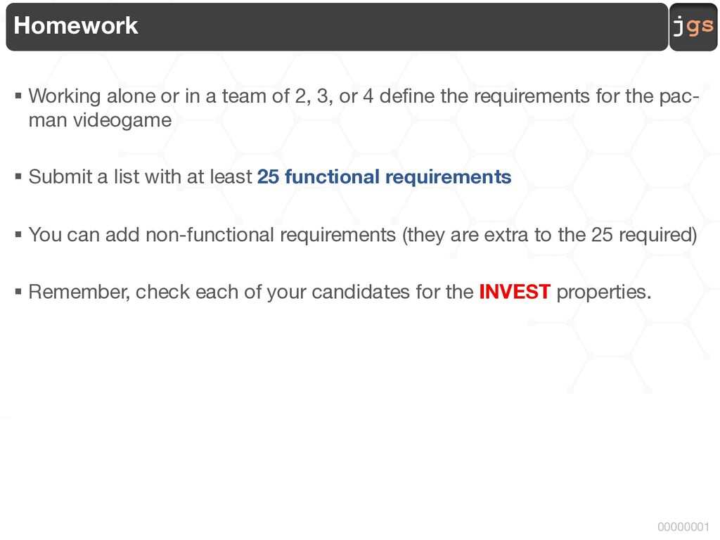 jgs 00000001 Homework § Working alone or in a t...