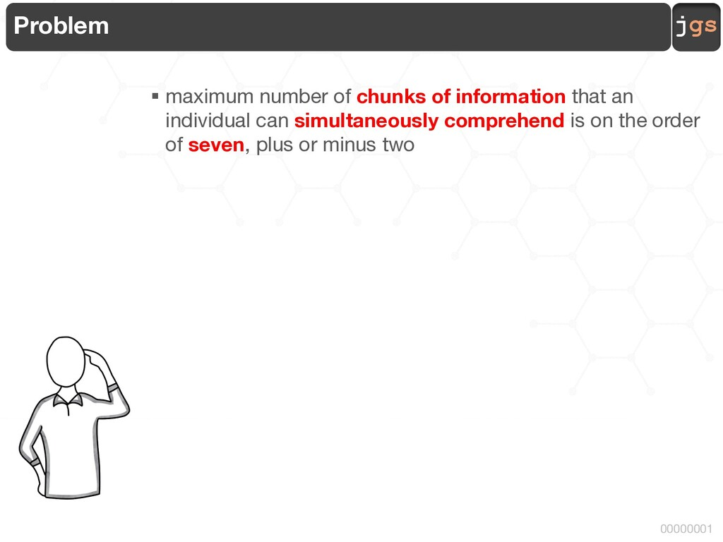 jgs 00000001 Problem § maximum number of chunks...