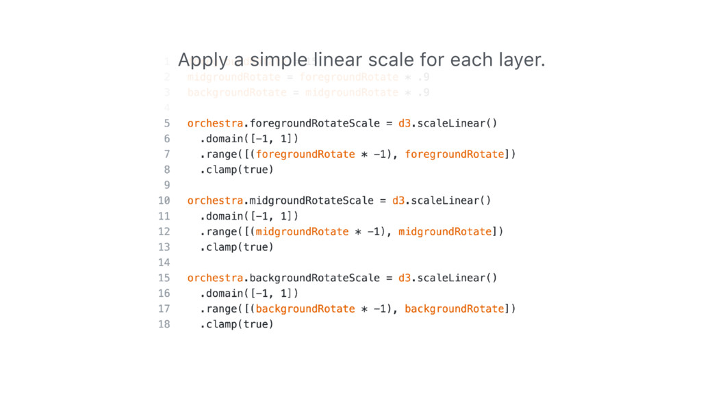 Apply a simple linear scale for each layer.