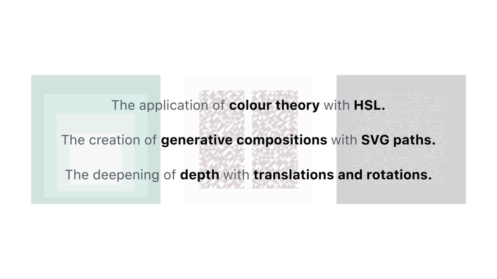 The application of colour theory with HSL. The ...
