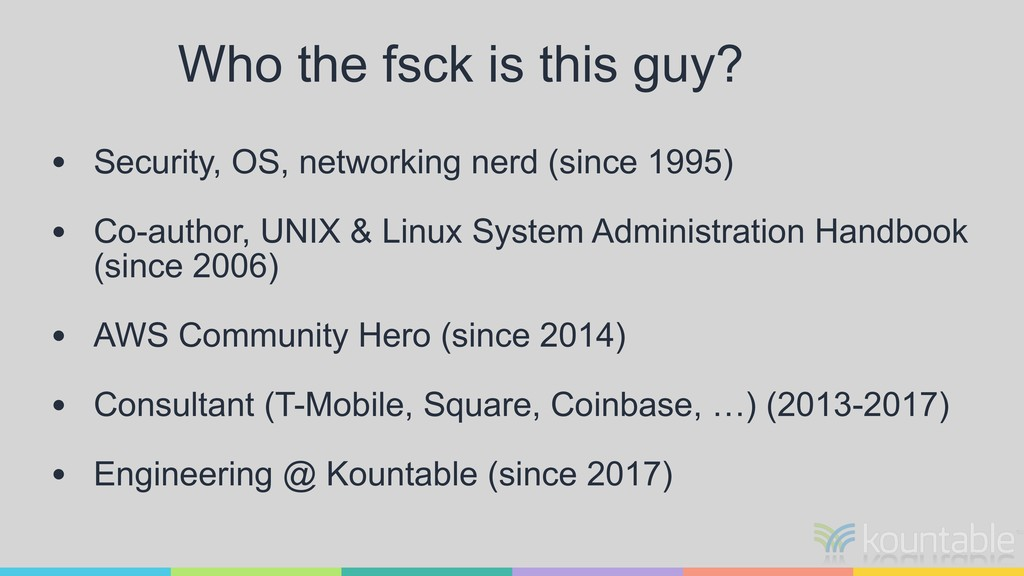 Who the fsck is this guy? • Security, OS, netwo...