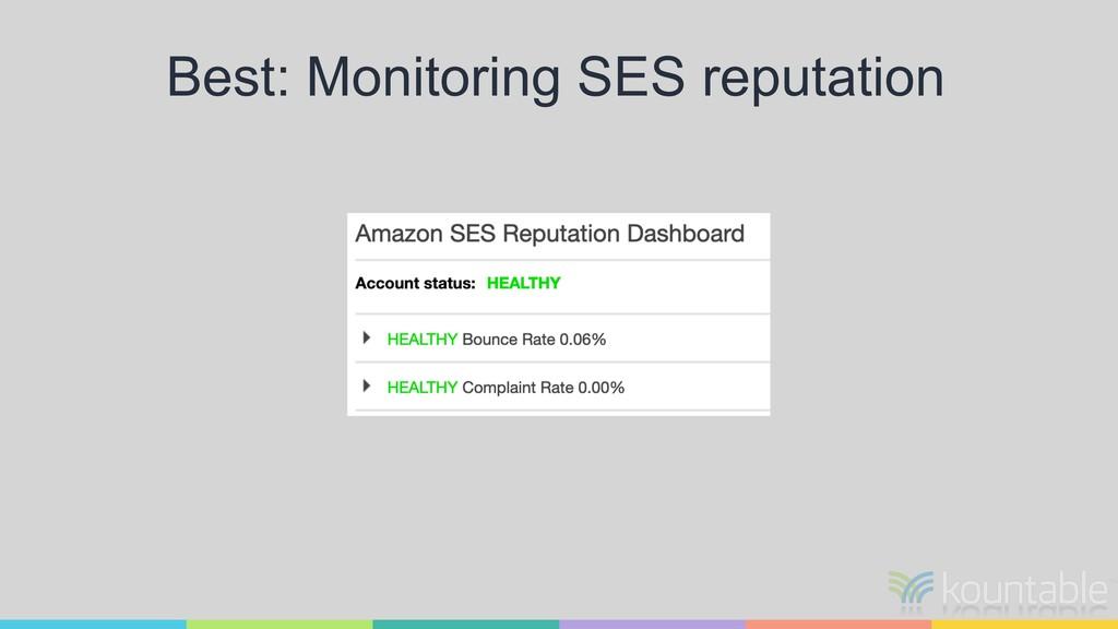 Best: Monitoring SES reputation