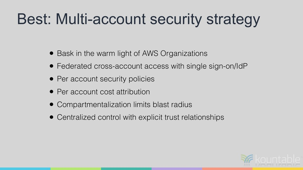 Best: Multi-account security strategy • Bask in...