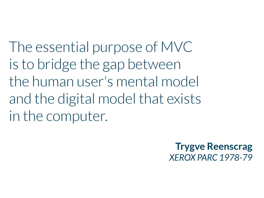 The essential purpose of MVC is to bridge the g...
