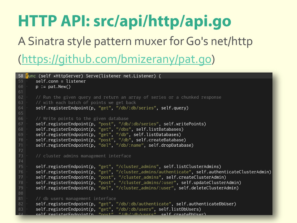 A Sinatra style pattern muxer for Go's net/http...