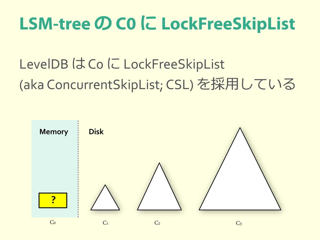 の に LevelDB は C0 に LockFreeSkipList (aka Concur...