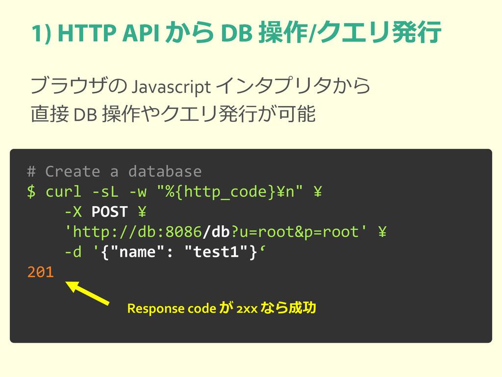 から 操作 クエリ発行 ブラウザの Javascript インタプリタから 直接 DB 操作や...
