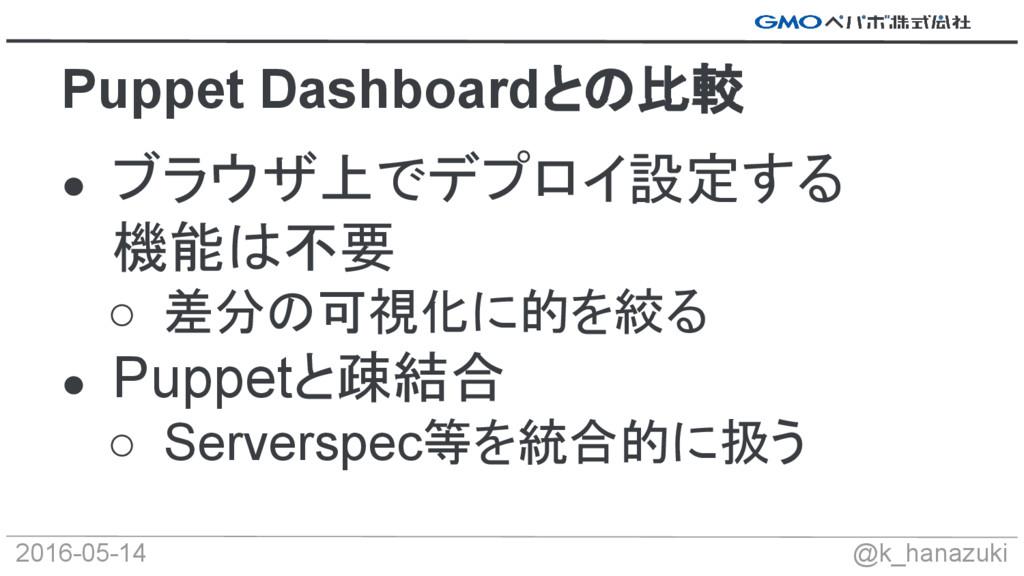 2016-05-14 @k_hanazuki ● ブラウザ上でデプロイ設定する 機能は不要 ○...