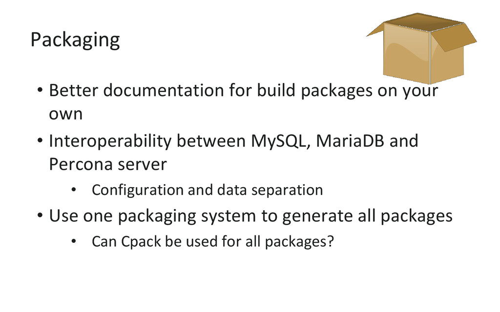 Packaging • Better documentation for build pack...