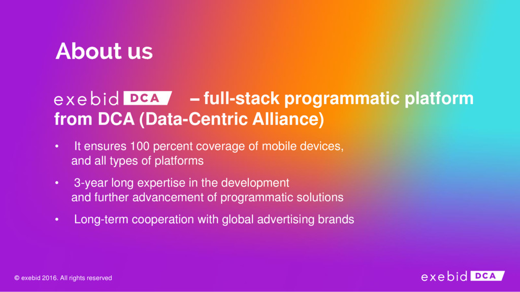 – full-stack programmatic platform from DCA (Da...