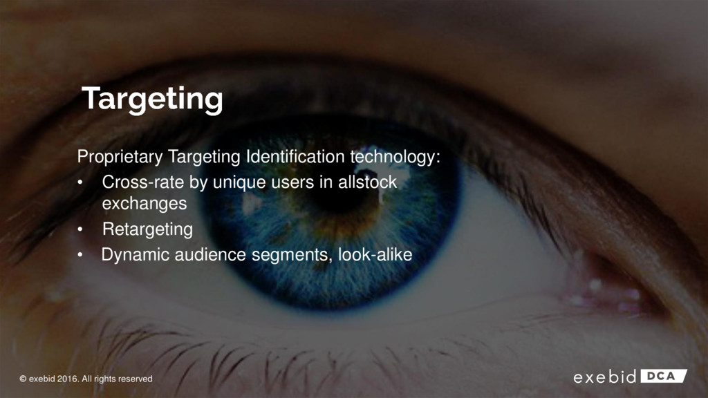 Proprietary Targeting Identification technology...