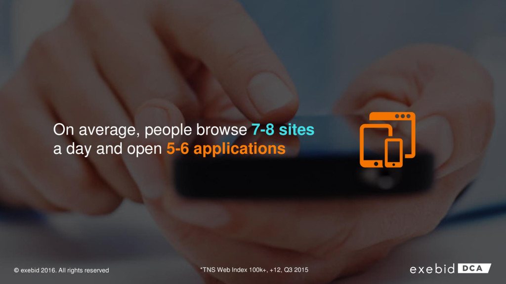 On average, people browse 7-8 sites a day and o...