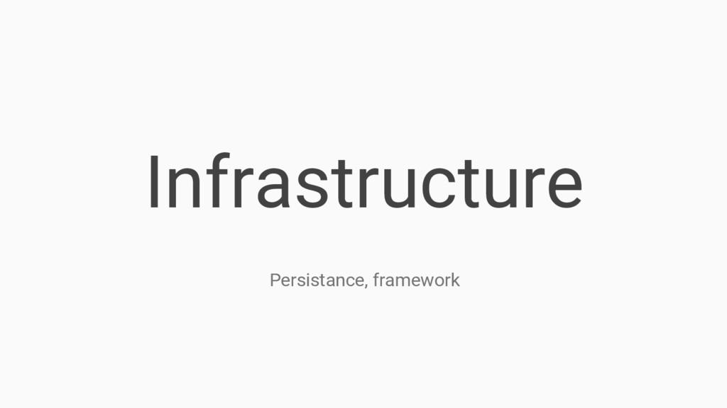 Infrastructure Persistance, framework