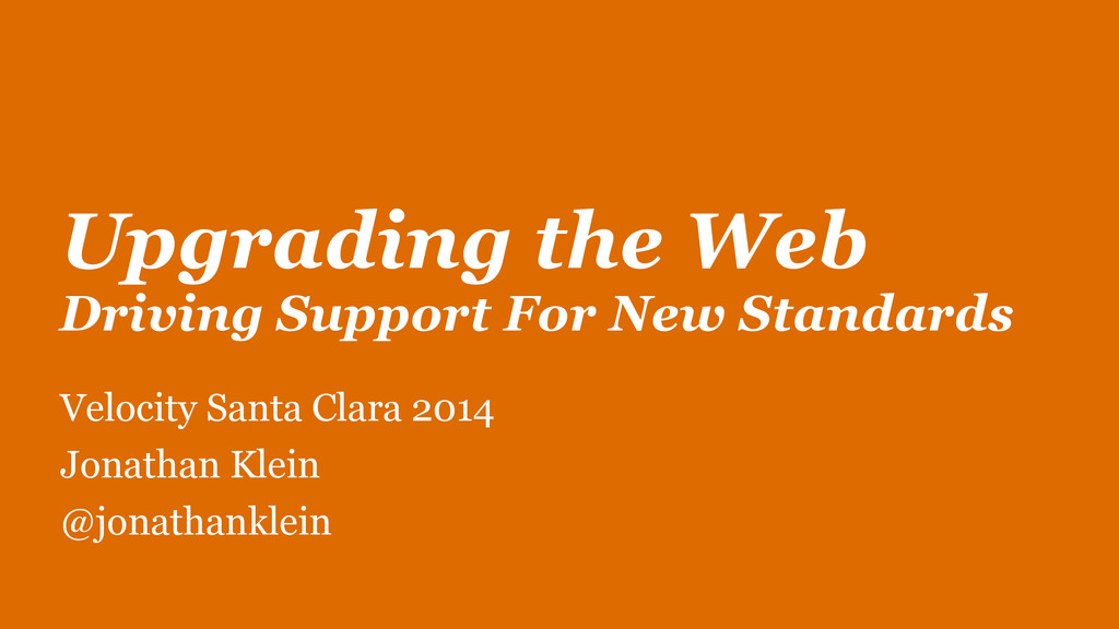 Upgrading the Web Driving Support For New Stan...