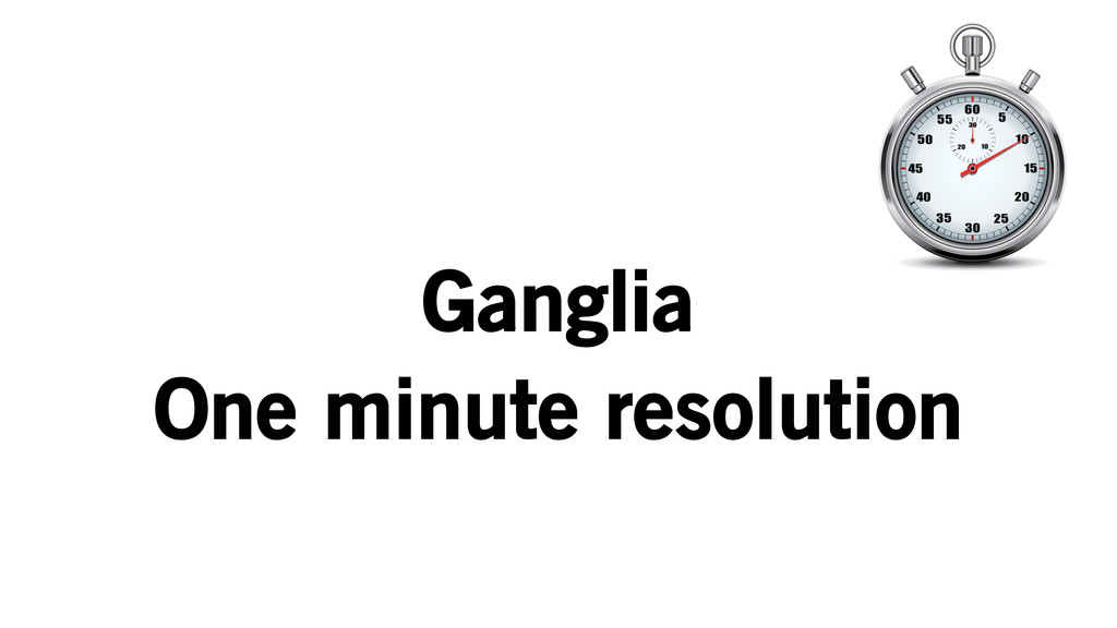 Ganglia One minute resolution